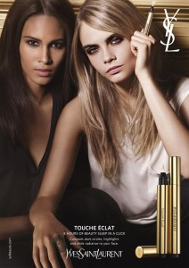 Yves Saint Laurent Touche Eclat With Jordan Dunn and Cara Delvigne