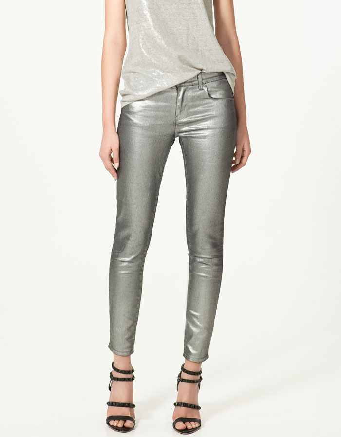 Zara metallic pants