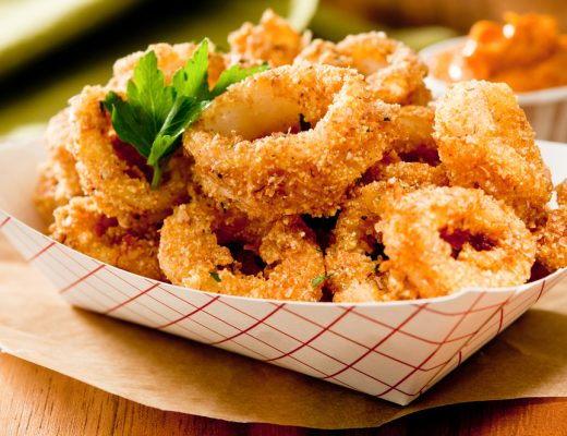 A basket of Buffalo Calamari