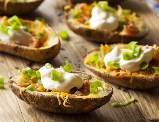 Stuffed potato skins