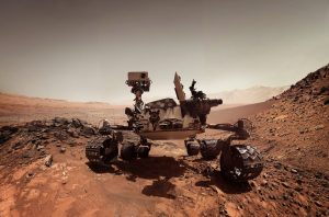 The curiosity rover currently roaming Mars