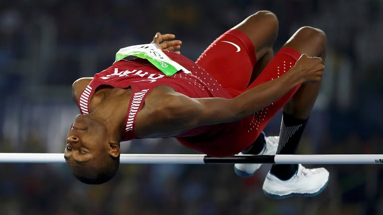Qatari high jump champion Mutaz Barshim at Rio 2016 Olympic Games - Picture from Rio 2016 website