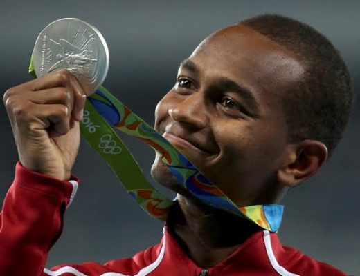 Qatar's Mutaz Barshim won silver at the Rio 2016 men's high jump event - Rio 2016 website