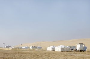 A small tent village in Qatar - for illustrative purposes only