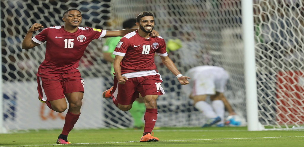 Striker Hassan Al Haydos secured first win at 2018 World Cup Qualifiers
