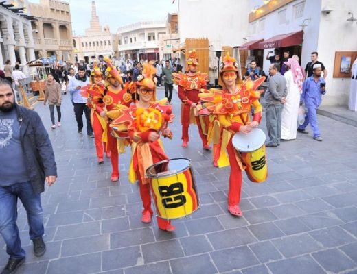 An opening parade of The Spring Festival at Souq Waqif yesterday - By Baher Amin - The Peninsula
