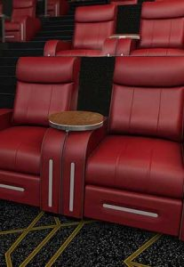 Leather seats at Flik Cinemas Platinum Class