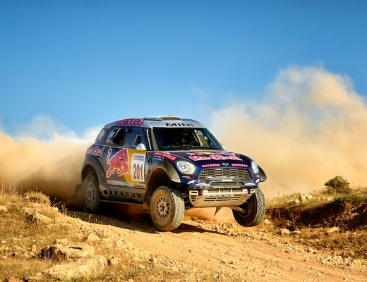 Qatar International Really record winner Nasser Saleh Al-Attiyah and his codriver Mathieu Baumel in a Ford HRX race in the 28th Baja Portalegre 500, on Nov 1, 2014