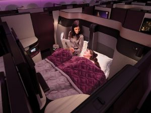 Qatar Aiways Launched the first ever double bed business class seats - Supplied