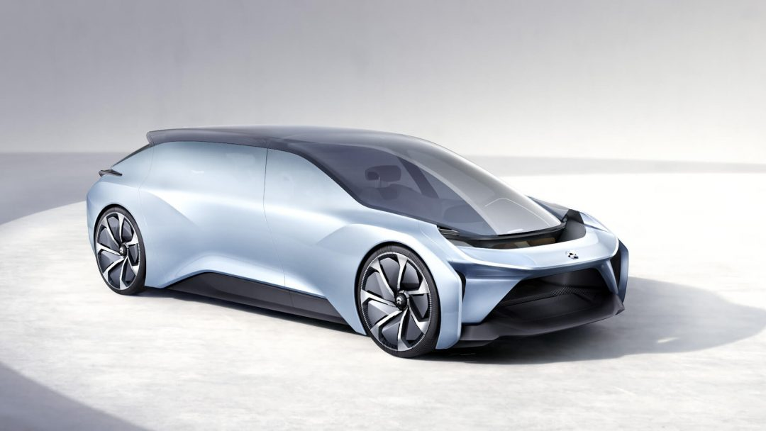 The exterior of the Nio Eve concept car - Nio