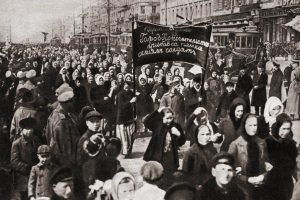 Women's demonstration for bread and peace - March the 8th, 1917, Petrograd, Russia - Wikimedia
