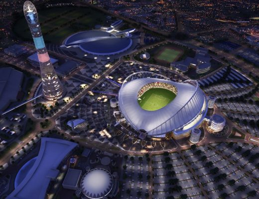 Al Bayt Stadium in Al Khor, which will serve as one of the 2022 World Cup stadiums - SCDL