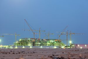 Construction of a new stadium in Lusail, Qatar
