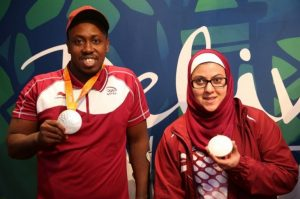 Qatari Paralympic silver medallists Abdulrahman Abdulqader and Sara Masoud where among the participants of the Accessibility Forum