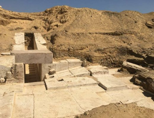 The entrance to the new pyramid near King Sneferu - Egyptian Ministry of Antequities
