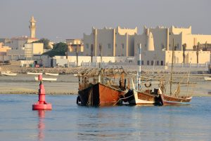 A view of Al Ruwais from the sea