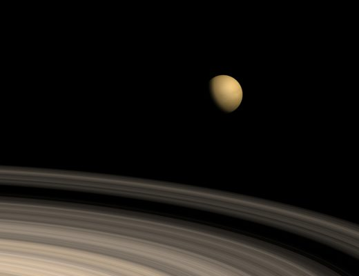 Titan from Saturn
