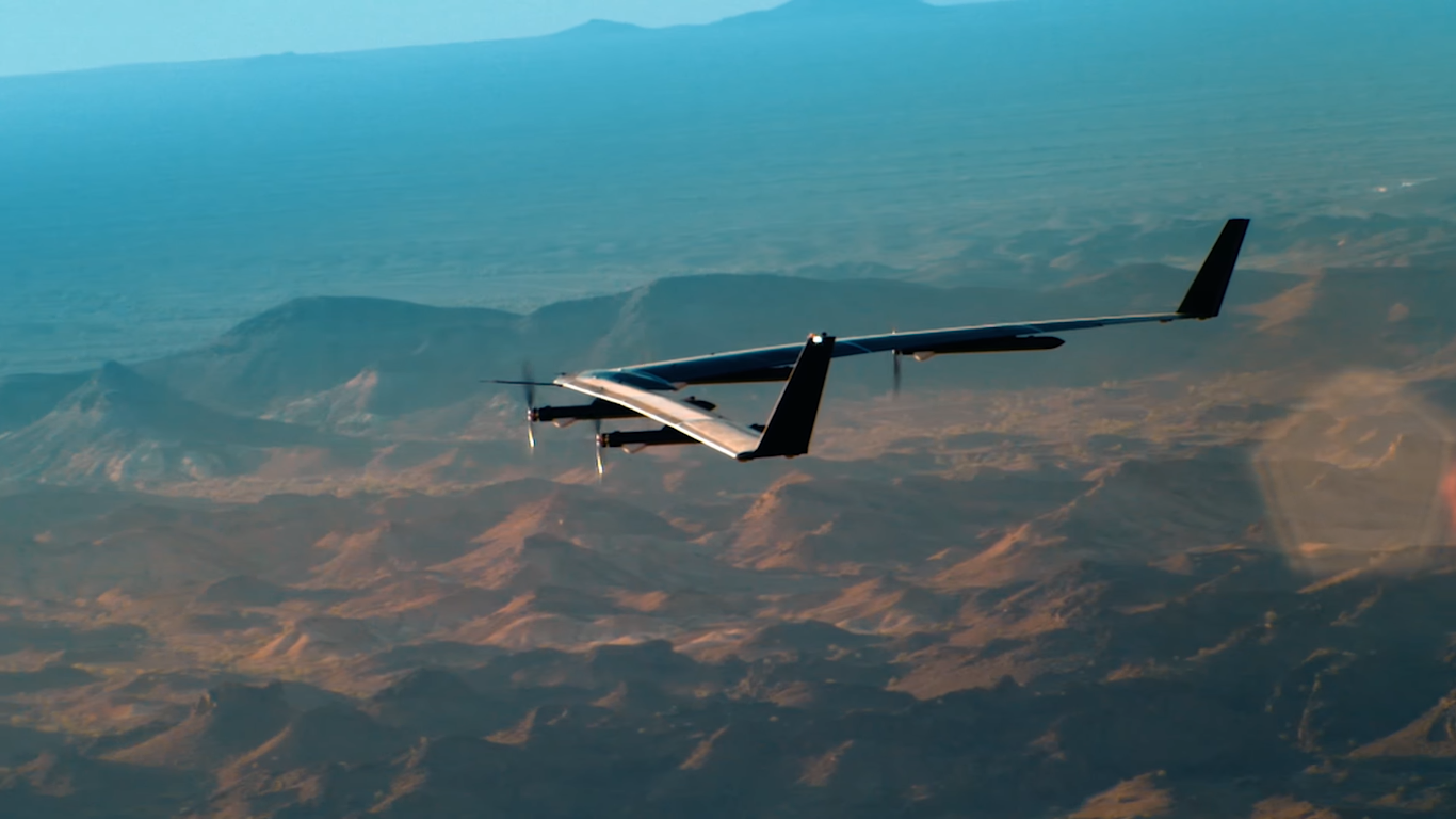 facebook's Aquila internet drone from above