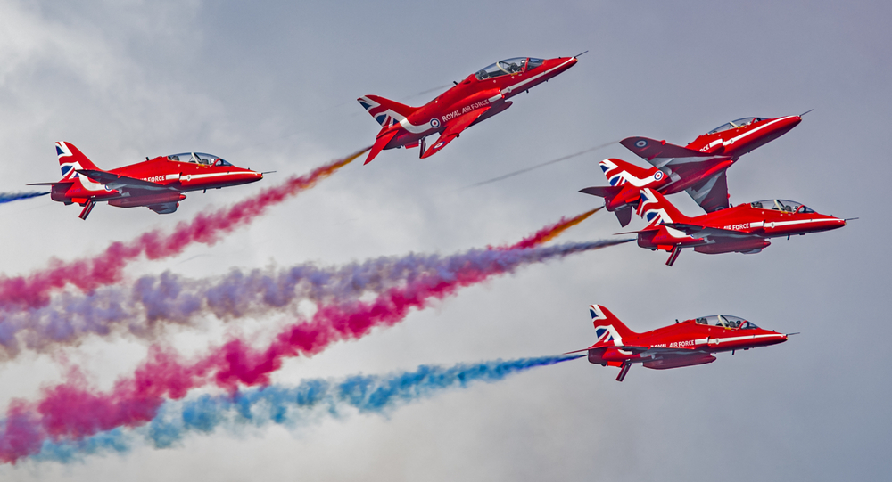 The United Kingdom's Royal Air Force RAF Red Arrows will perform in Qatar this September