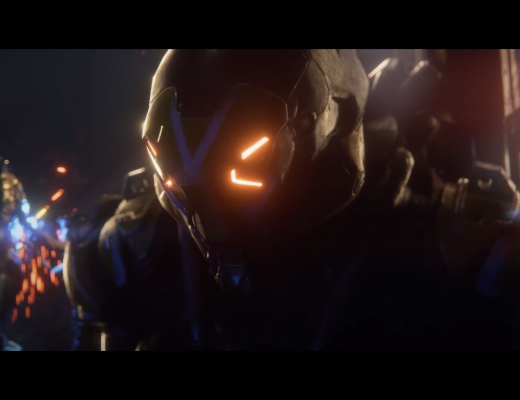A freelancer in a Javelin, Anthem - BioWare