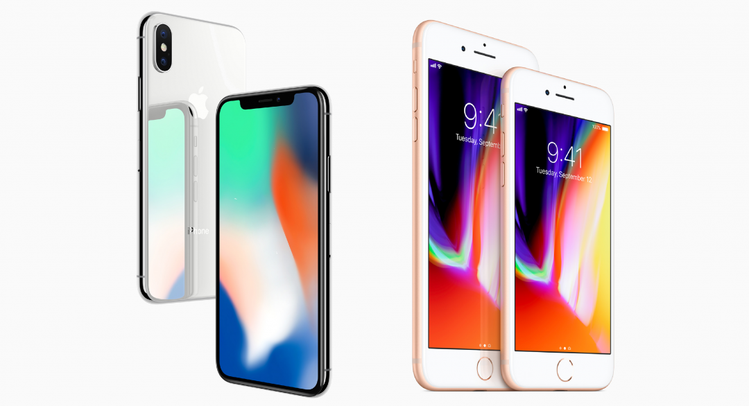 Apple iPhone X, iPhone 8 and iPhone 8 Plus