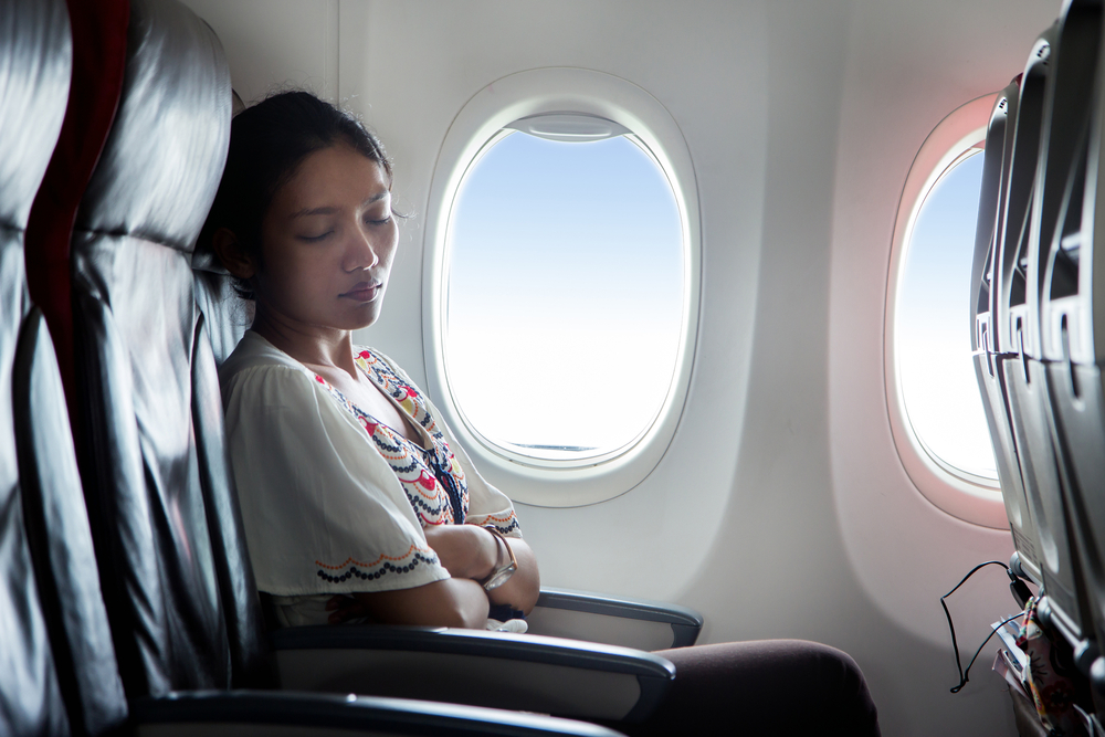 Avoid the urge to sleep during takeoff or landing, it can damage your eardrums