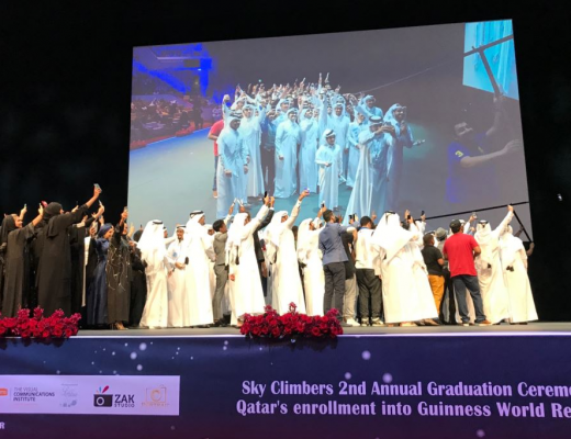 Sky Climbers earn Qatar new Guinness World Record
