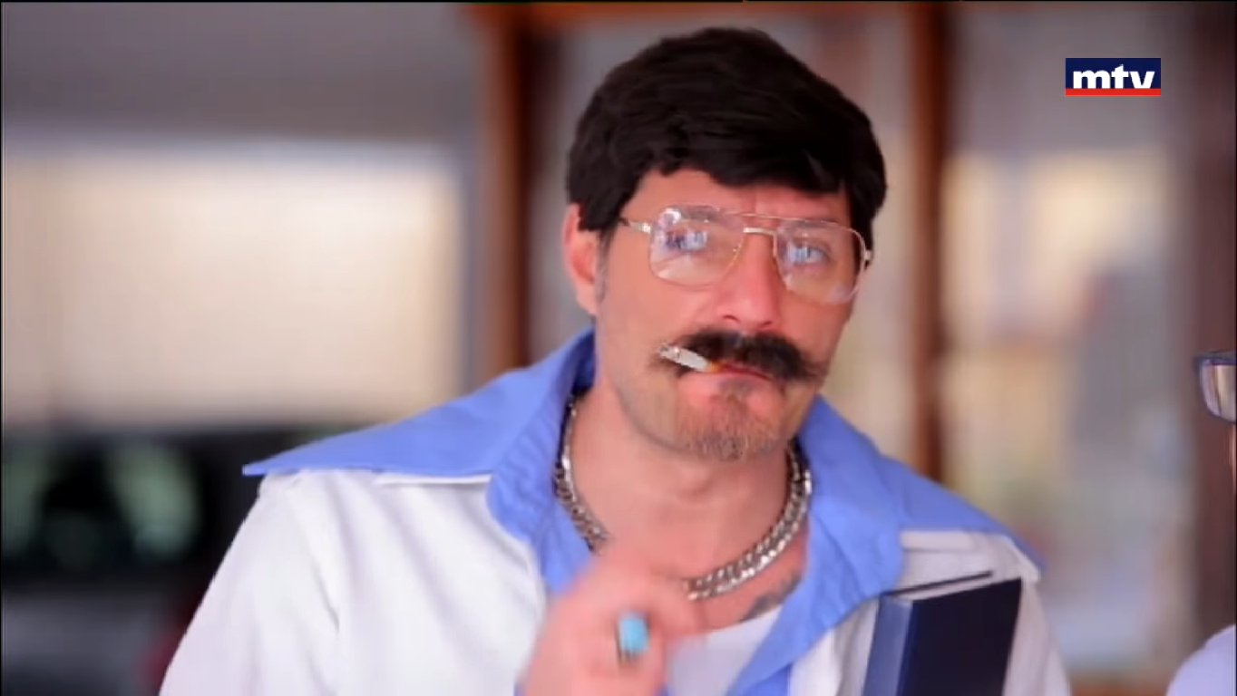Adel Karam as Farid, one of his characters on Mafi Metlo - Youtube MTV
