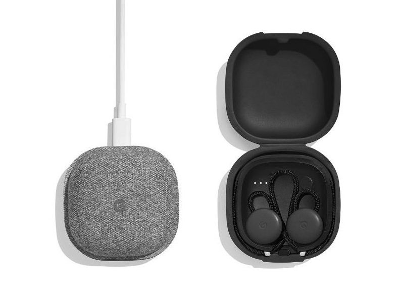 Google Pixel Buds and case