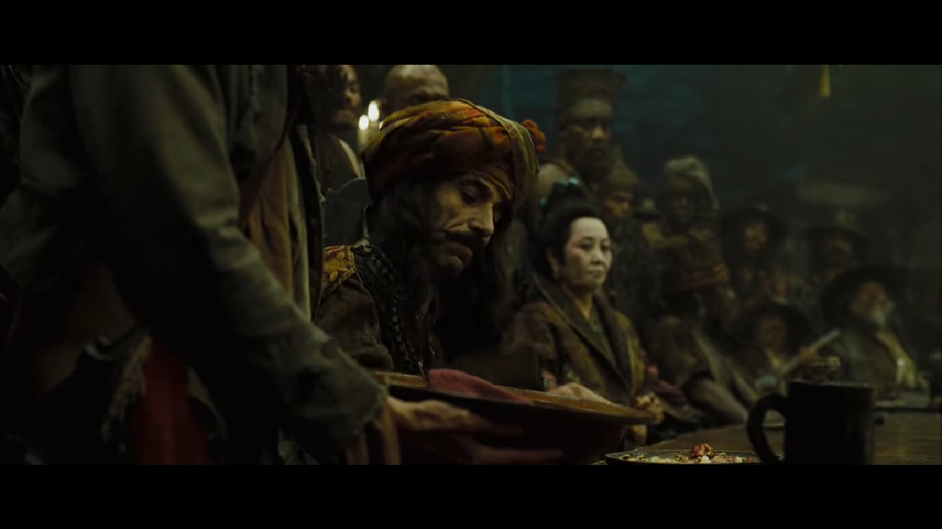 Syrian actor Ghassan Massoud in Pirates of the Caribbean At World's End (2007)