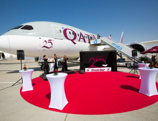 In celebration of their 20th anniversary, Qatar Post issued Qatar Airways stamps