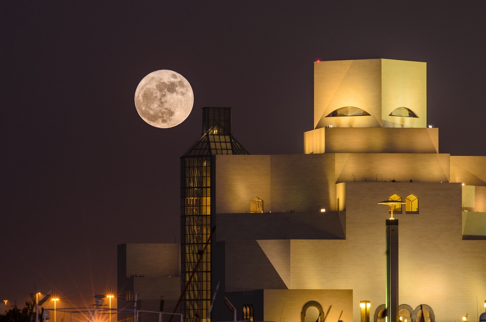 supermoon, close full moon, visible over Qatar this weekend