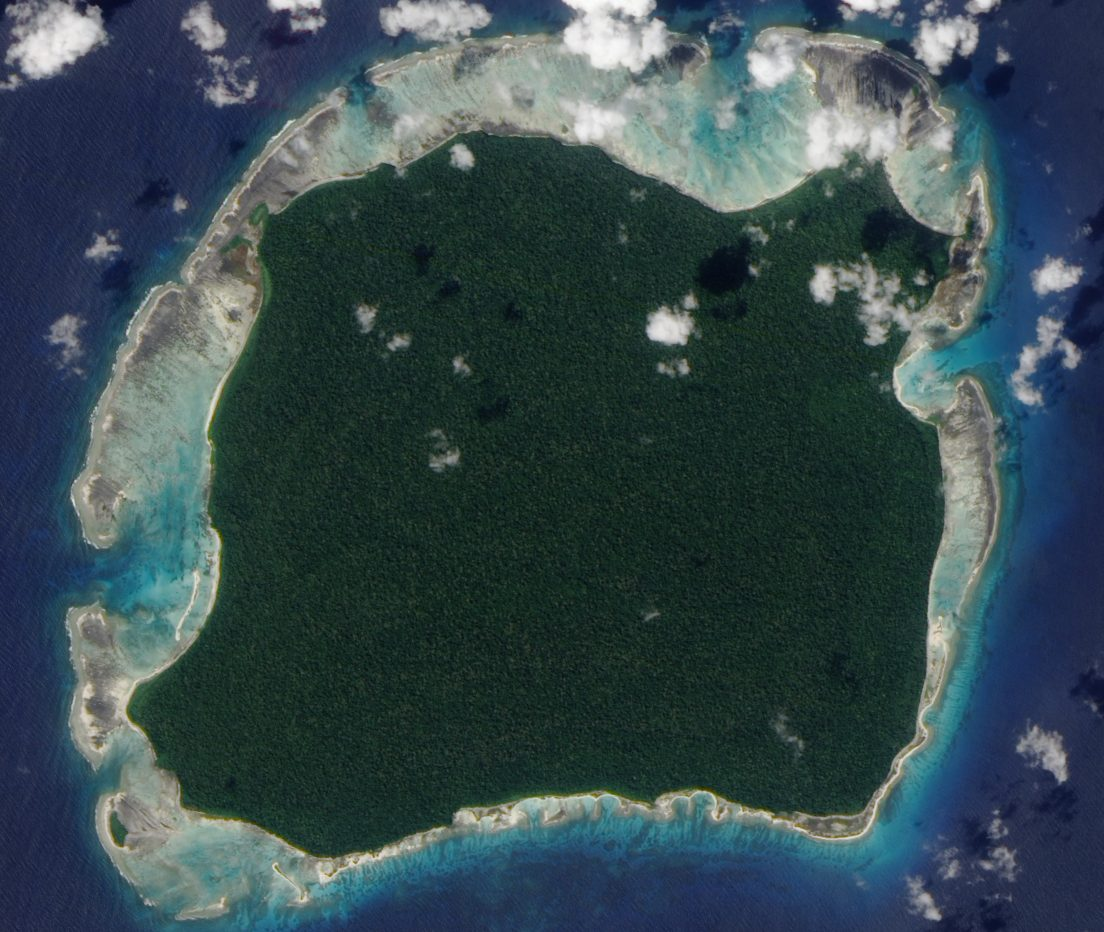 North Sentinel Island on the Bay of Bengal is home to the uncontacted Sentinelese people