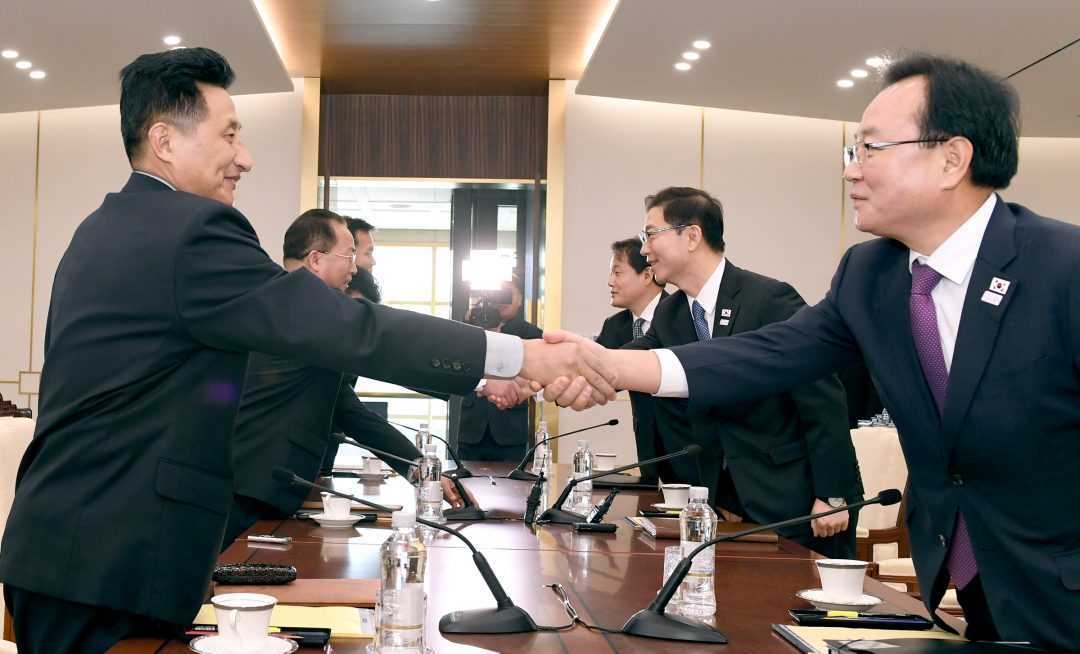 north korea and south korea announce winter olympics opening ceremony march under korea unification flag
