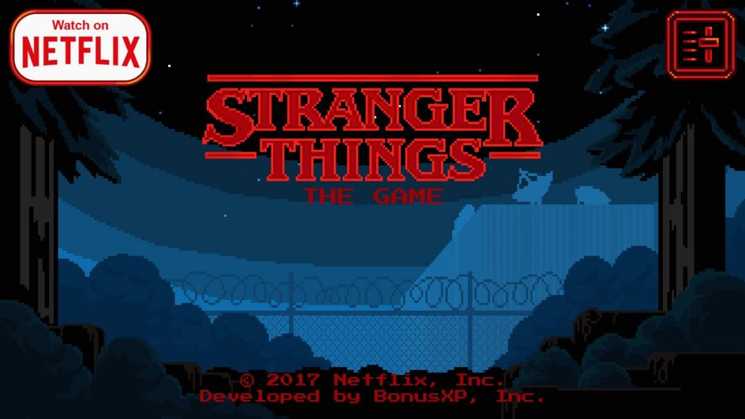 stranger things the game with retro 80s pixel graphics