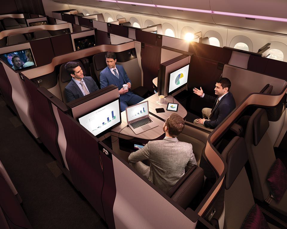 Qsuite from Qatar Airways