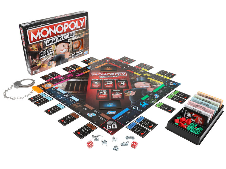 the new monopoly cheaters edition board