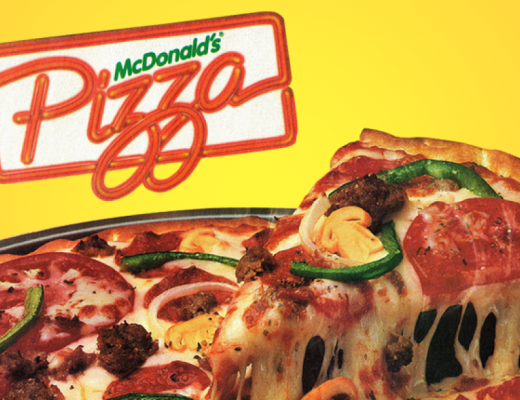McPizza McDonald's pizzas from the 80s pizza