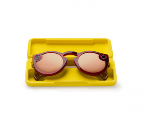 the new version of snapchat spectacles fitted with a camera