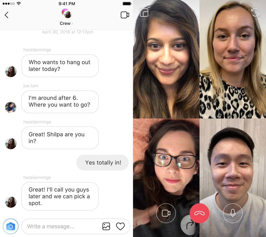 Instagram video chat - Instagram