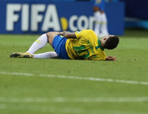 Neymar Jr's fake injuries and falls during world cup gives birth to #NeymarChallenge