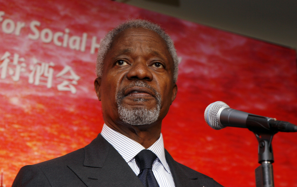 Kofi Annan served as the Secretary General of the United Nations from 1997 until 2006.