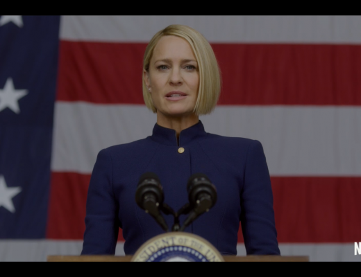 With Frank Underwood (Kevin Spacey) dead, it's on Claire Underwood (Robin Wright) to lead the House of Cards in season six
