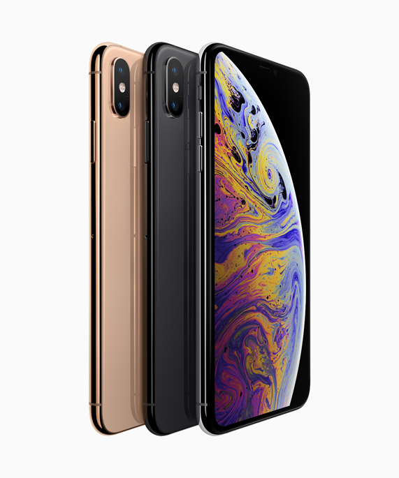 iPhone Xs in three colors - Apple