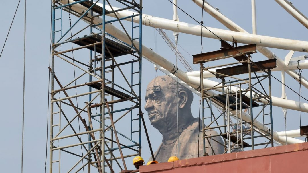 The world's tallest statue, the statue of unity, dedicated to Indian leader Sardar Vallabhbhai Patel - CNN/AFP/Getty Images