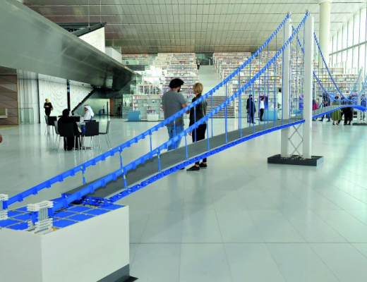 Qatar National Library, Doha, is home to the world's longest bridge made of LEGO