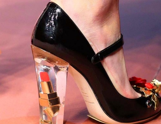 Dolce & Gabbana Patent Leather Mary-Janes With Brooches