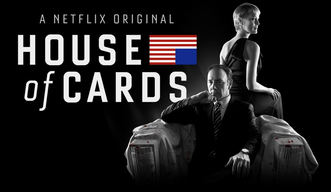 Netflix original series House Of Cards starring Kevin Spacey and Robin Wright