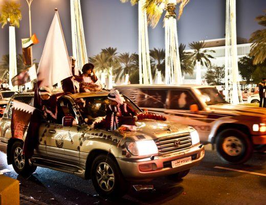 Ramadan car parades in Doha, Qatar
