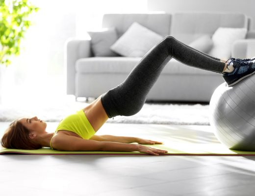 Woman doing home exercises